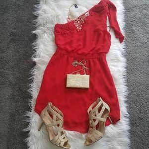 Mango mini red dress